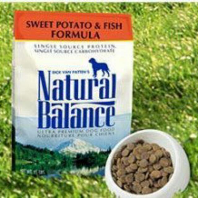 美國NaturalBalance NB低敏無穀地瓜鮭魚全犬配方-中大型犬 26磅/11.8kg