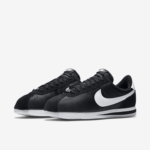 factory authentic c9870 b45c5 Nike Cortez Basic Nylon (Men) - Black/Metallic Silver/White