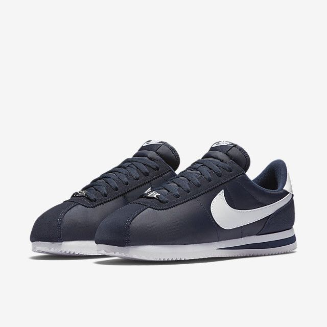 new concept db995 e9c95 Nike Cortez Basic Nylon (Men) - Obsidian/Metallic Silver/White