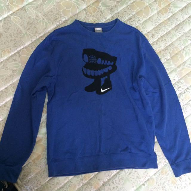 (售出)Nike 棉T 長袖上衣 藍色