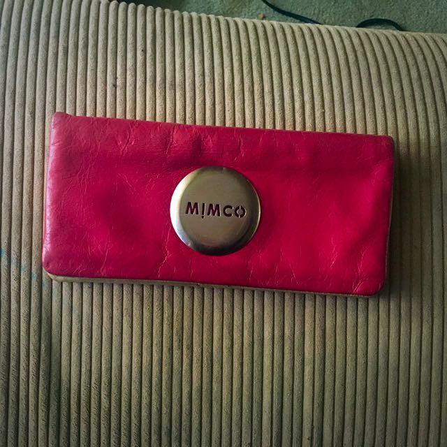 Red Mimco Wallet