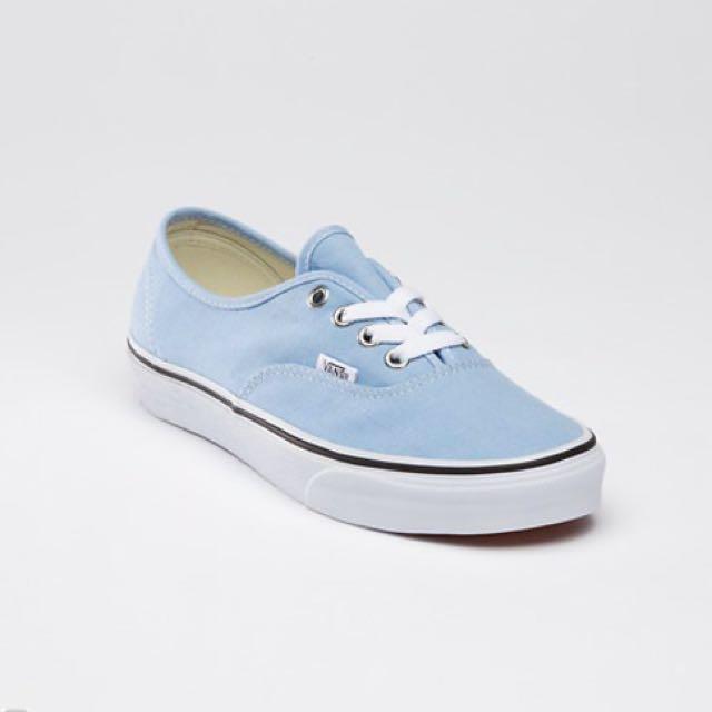 Vans Light Blue Women US 5.5 Without