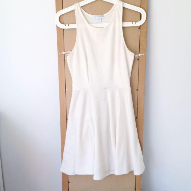 White Racerback Skater Dress