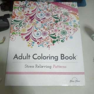 Clearance - New - Adult Coloring Book - Stress Relieving Patterns. (Buy 1 Free 1 Of Same Price coloring Book)