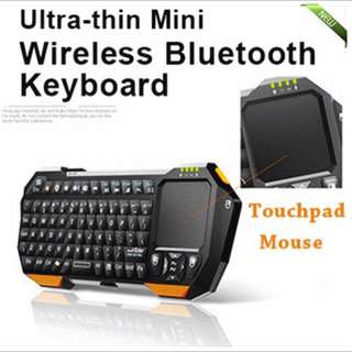 [ONLY 1 LEFT] 2 in 1 Wireless Bluetooth Keyboard + Touchpad Mouse Slim Ultra-thin Apple Android Samsung Xiaomi Tablet PC mini Keyboard With Backlight Support Windows 8 Android IOS System