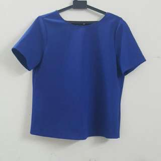 Seed M Blouse With Tie-ribbon Back