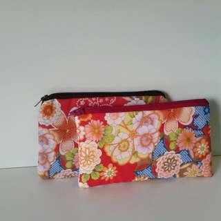 Handmade Japanese Print Pouches