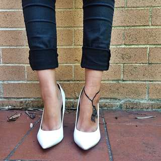 White Pointed Heels (RRP: $40)