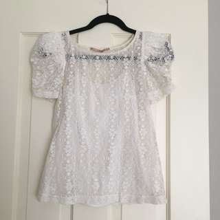 Cooper Street - Lace Top With Singlet Sz 8