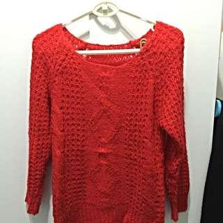 大紅喜氣毛料上衣