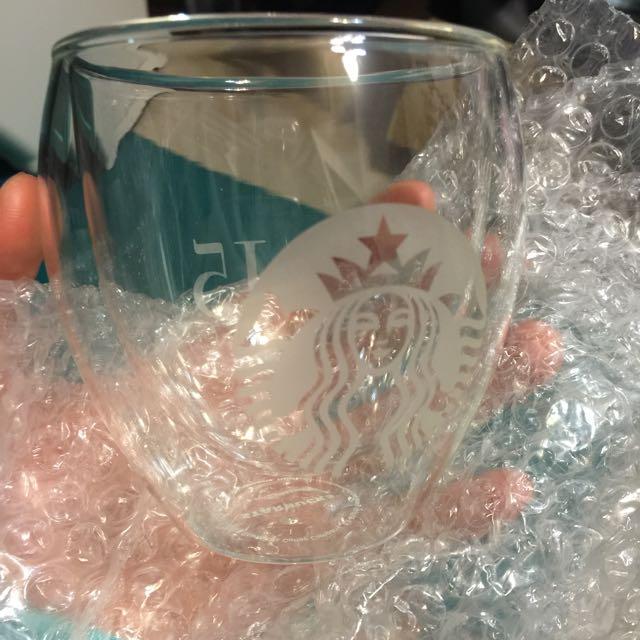 星巴克15週年雙層玻璃杯