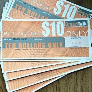BreadTalk Gift Voucher ($10)