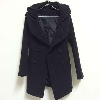 暫售/二手含運 黑色綁帶大衣外套