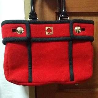 [BN] Kate Spade Chestnut Hill Alda Quinn Felt Wool Tote Handbag