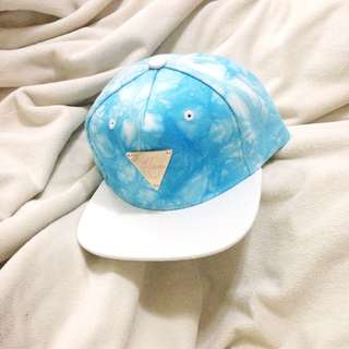 🌈Hater SnapBack藍色水波紋板帽棒球帽