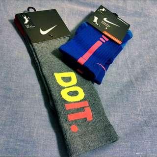 Nike Elite Cushioned 籃球長襪 全新藍橘配色&灰底Do It