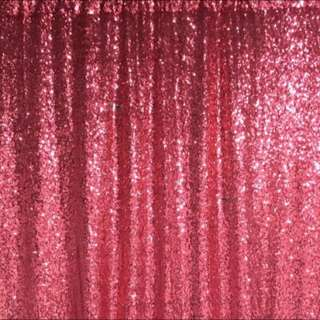 Fuchsia Sequin Photography Photobooth Backdrop