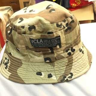 UCLA 迷彩 漁夫帽 二手