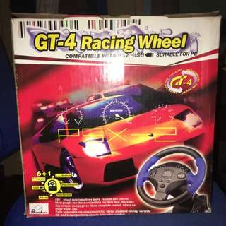 PantherLord GT-4 Racing Wheel For PC(compatible With PS2)