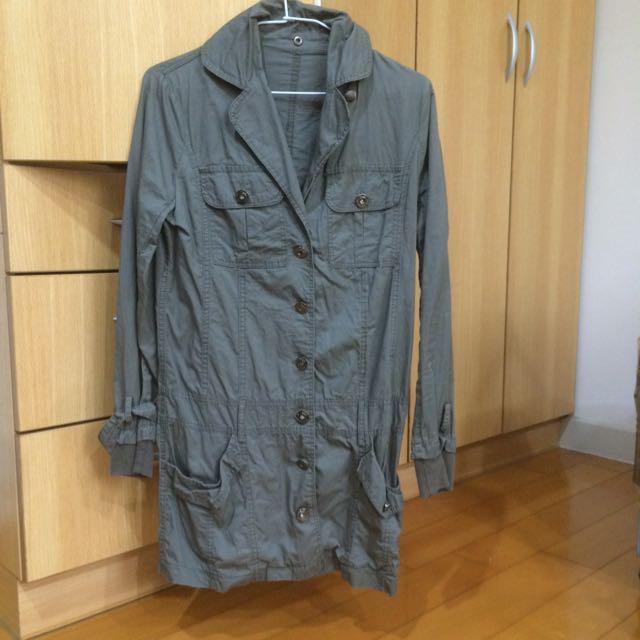 薄長版外套