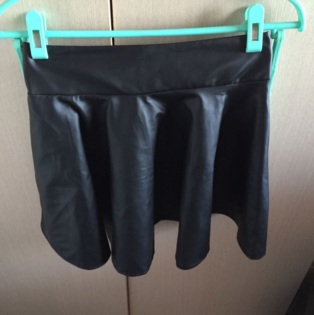 ‼️(二手)黑色皮裙