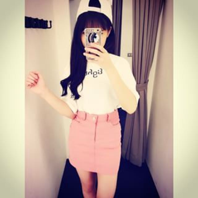 粉色單扣窄裙💕