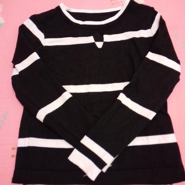 🎀黑白條紋針織上衣