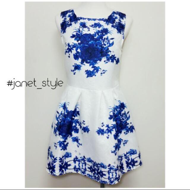 很美的青花瓷洋裝