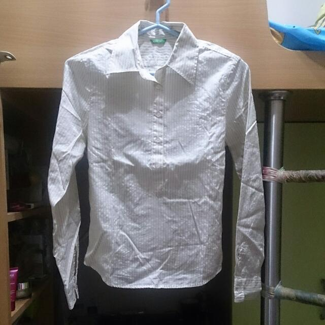 班尼頓 長袖襯衫