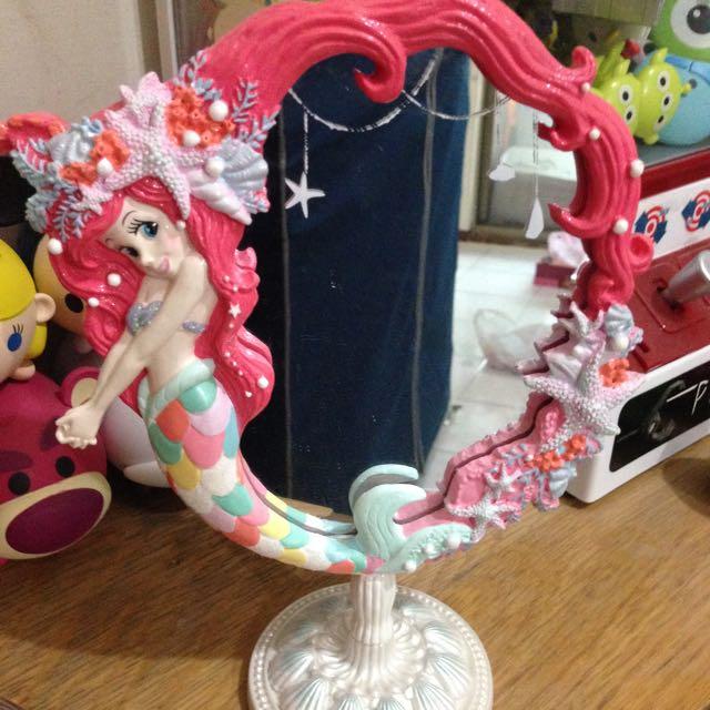 保留中)東京迪士尼 小美人魚 限定水彩造型鏡 2015