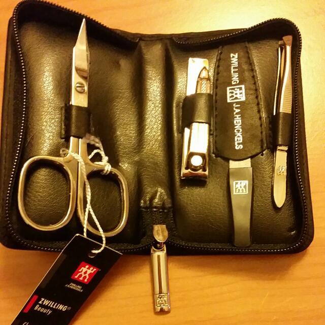 旅行組,德國製 雙人牌Zwilling 指甲剪刀組一套4件,現貨