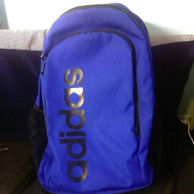 Adidas 愛迪達 深藍 後背包 背包 正品 大logo