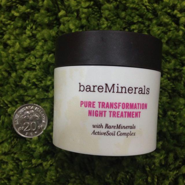Bare minerals pure transformation night treatment
