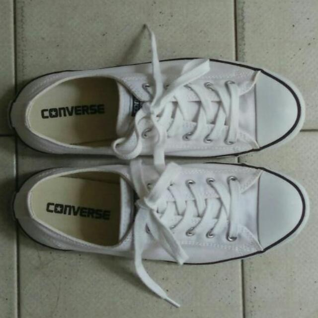 1291ab1f2dea Price Reduced    AUTHENTIC Converse White Sneakers Size 38 ...