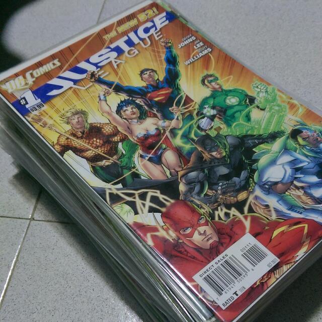 DC Comics New 52 Justice League #0, 2-34, Justice League Dark #22-23, Justice League Of America #6-7