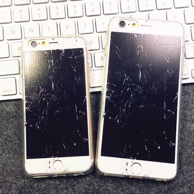 iPhone 5~6PLUS系列假摔壞螢幕手機殼 嚇嚇朋友新玩具