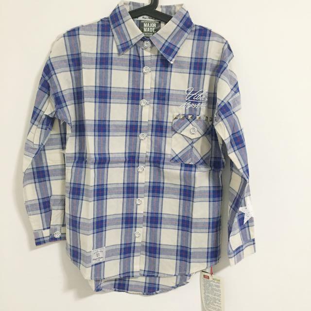 Major藍格紋襯衫