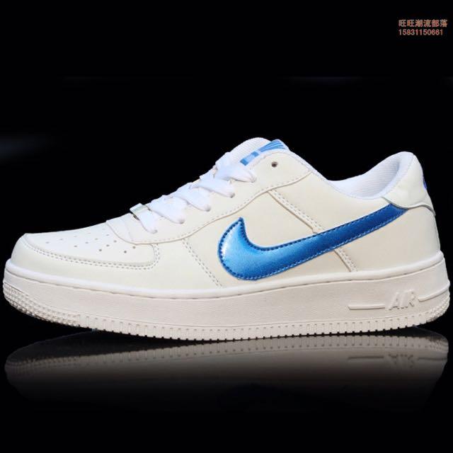 timeless design 38408 30980 Nike AF1 Low Cut Blue Inspired