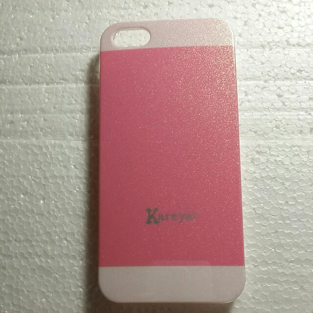 Pink Iphone 5/5s smartphone protection case