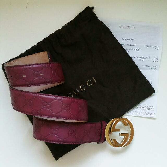 Preloved Authentic Gucci Belt