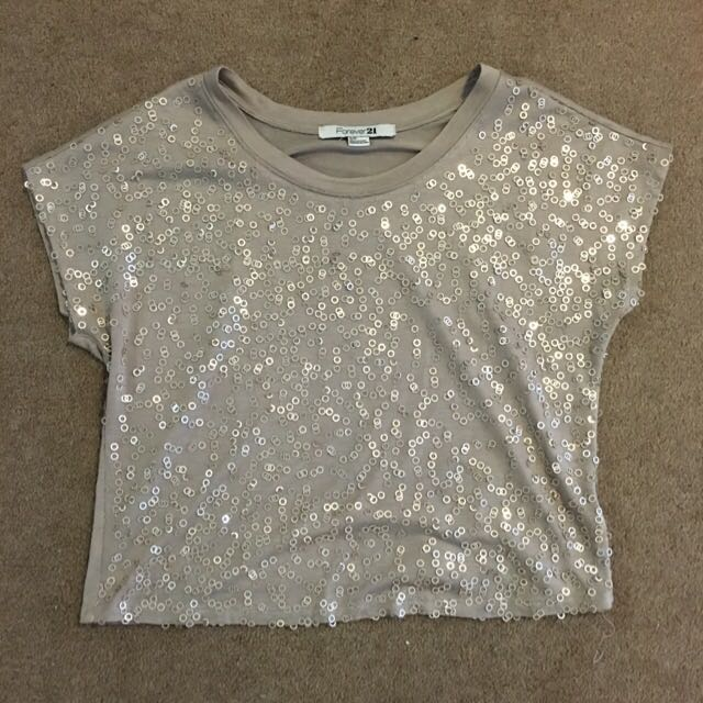 Sequinned Casual Top