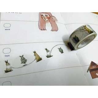 【分裝/U】mas*T/兔子跳繩/紙膠帶