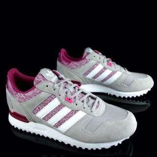 Adidas 復古慢跑鞋 灰桃麂皮