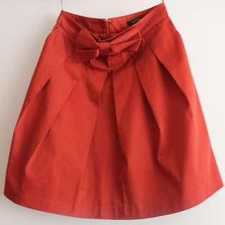 Portmans Orange Skirt Size 8- NEW