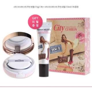全新韓國帶回Urban dollkiss遮瑕氣墊粉餅禮盒