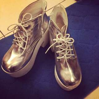 原宿 厚底靴 踝靴