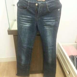 免運 各式牛仔褲 刷毛邊 拉鍊 喇叭褲 長褲 褲子