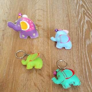 可愛大象鑰匙圈