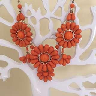 Orange Flower Necklace