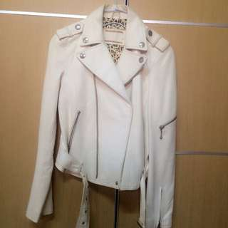 🎀白色皮外套